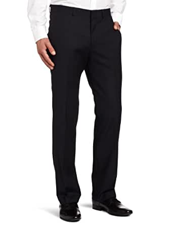 Kenneth Cole New York Men's Flat Front Separate Pant, Navy, 42x30