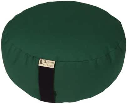 Zafu Yoga Meditation Cushion Cotton or Hemp, Organic Buckwheat Fill - 2 SIZES, VARIETY OF COLORS - Made In USA, by Bean Products
