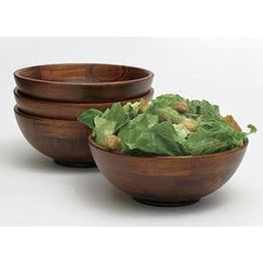 Lipper Dark Cherry Salad Serving Bowls - Set of 4