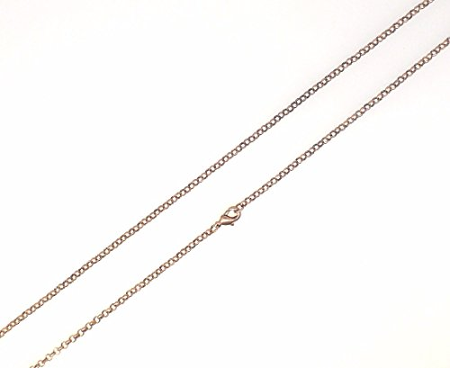 (5pcs Pack Rolo Cable Chain Necklace 22