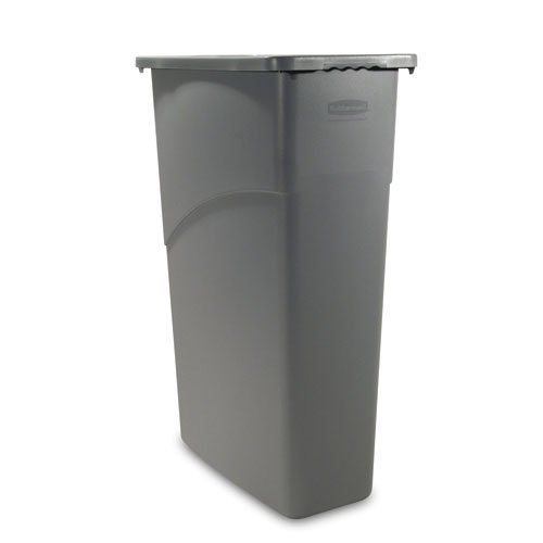 - Rubbermaid Slim Jim Container - Standard Base - 23-Gallon Capacity - Black - Black