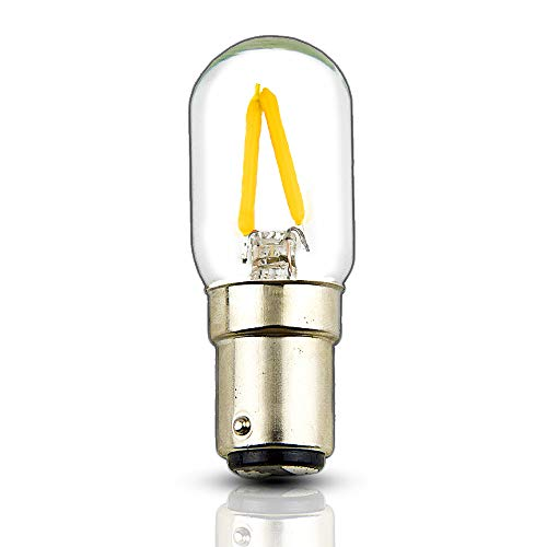 Bonlux 120V BA15D Double Contact Bayonet Base LED Filament Light Bulbs 2W T22 BA15D Sewing Machine LED Lamps 15W Halogen Replacement for Reading Lamp Pendant Track Lighting, Warm White 2700K ()