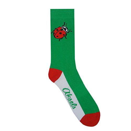 Aksels Animal Calf Socks for Men and Women (Ladybug) ()