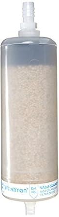 Whatman 6722-1003 VACU-GUARD 150 PTFE Molecular Sieve Vacuum Protection Filter, 15 psi Maximum Pressure, Hose Barb / Stepped Barb