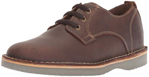 Florsheim Kids Boys' Navigator Dress Casual Plain Toe Oxford Jr. Brown CH, 4 Medium Big ()