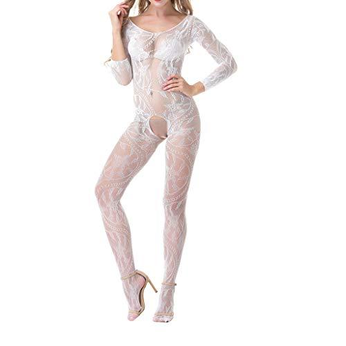 - Sexy Lingerie for Women, Babydoll Underwear Body Stocking One Size Unpadded Alluring Babydoll Lingerie Sumeimiya White