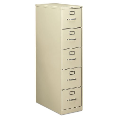 Putty Colored 28-1/2d HON 210 Series Five-Drawer, Full-Suspension File, Letter Size - BMC-HON 215PL