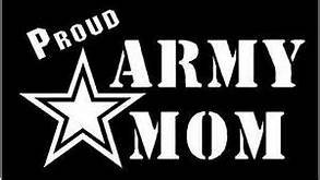 Mom Van - Army Mom Proud Parent Army Military|WHITE|Cars Trucks Vans SUV Laptops Wall Art|5.75