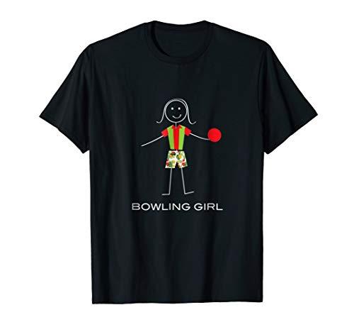 Funny Bowling T-Shirt for Girls, Bowling Gifts for Women ()