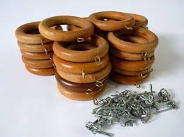 Wooden Curtain Rings Set Of 50 Pieces