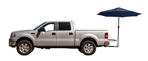 State Tailgating Tent (TailBrella. The Original Tailgate Hitch Umbrella For Truck/SUV Tailgater. 9FT XL Water-Resistant Tailgating Tent/Canopy for Outdoor BBQ Grill, Chair, Table, Games. (Navy Blue))