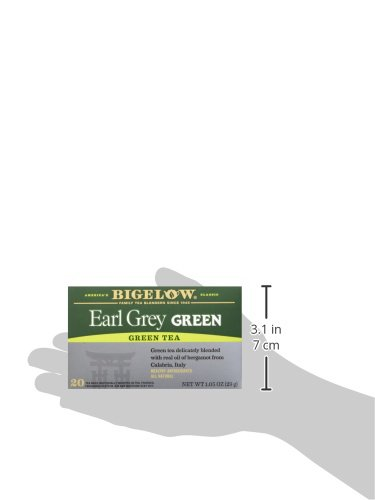 Bigelow Earl Grey Green Tea, 20 Bags (Pack of 6), Premium Green Tea with Oil of Bergamot, Antioxidant-Rich All-Natural Gluten-Free Medium-Caffeine Tea in Foil-Wrapped Bags by Bigelow Tea (Image #9)