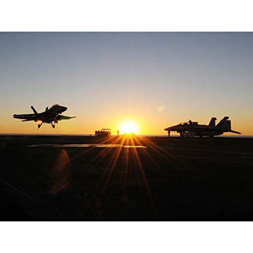 Military USA Navy FA-18E Super Hornet Jet Fighter Photo Extra Large XL Wall Art Poster Print ()