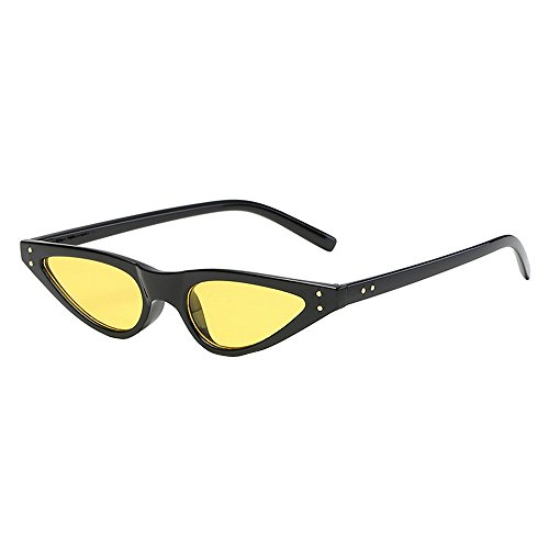 Kauneus  Vintage Retro Cat Eye Sunglasses for Women Small Designer Shades Glasses