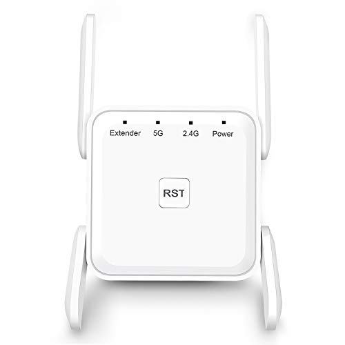 WiFi Range Extender, 1200Mbps WiFi Booster Repeater 2.4  5GHz Dual Band WPS Wireless Signal Strong Penetrability, Wide Range of Signals(2000FT), Enjoy Gaming Movies