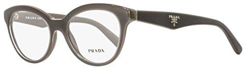 Prada Triangle Eyeglasses PR11RV UAM1O1 Opal Brown On Brown - Triangle Prada