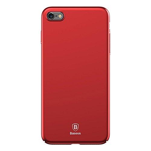 Phone Taschen & Schalen für iPhone 6 & 6s PC ultradünner Aufprallschutz-Abdeckungs-Fall ( Color : Red )