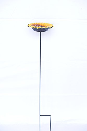 Stake Sunflower (BENBA Brand Wild Bird Feeder and bird bath for Garden decorative feeders)