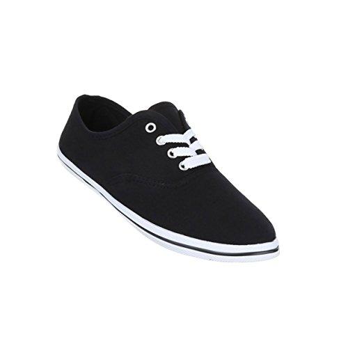 Damen Schuhe Freizeitschuhe Leichte Turnschuhe Schwarz