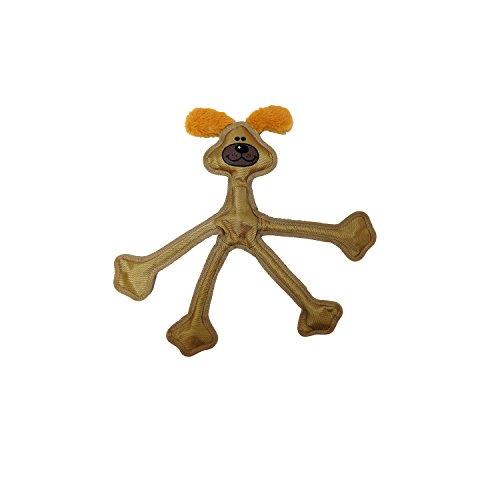"Multipet 43322-1 Skele-Ropes Animals Toy, Dog, 15"", Tan"