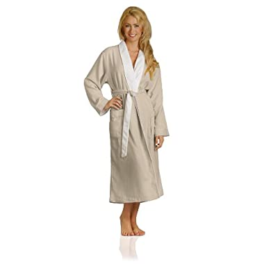 Luxury Spa Robe - Microfiber with Cotton Terry Lining, Seashell, X-Large