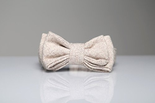 Max-Bone Wilhelmina Dog Bow Tie, Large Size, Off-White by Wilhelmina
