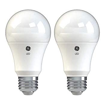 GE Lighting 37015 Basic LED (75-Watt Replacement), 1050-Lumen A19 Bulb, Medium Base, Soft White, 2-Pack, Title 20 Compliant