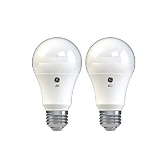 GE Lighting 37027 Basic LED Light Bulbs, 100-Watt Replacement, 2-Pack, Daylight, A19 LED Bulb, Medium Base