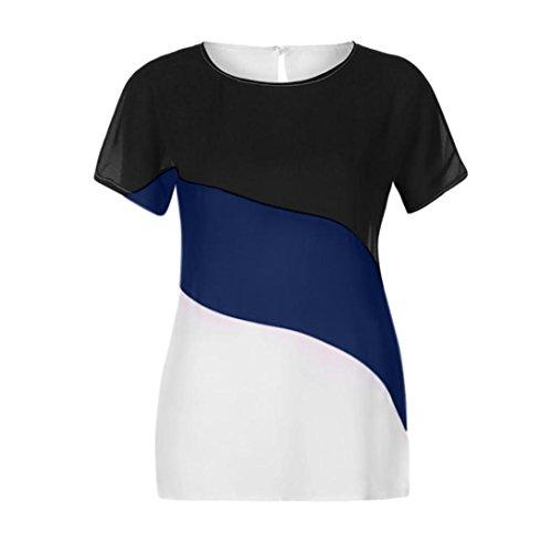 Marque Femme Longra t Tee Femme Tunique T Courte Femme Mode Originaux Fonc T Shirt Haut Shirt Shirts Chemisier Femme Tee Femme Top Femme en Shirt Bleu Shirt Originaux Mousseline T AZA6rw