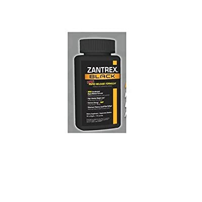 Zantrex Black Rapid Release Formula High Velocity Weight Loss, 60 Softgels
