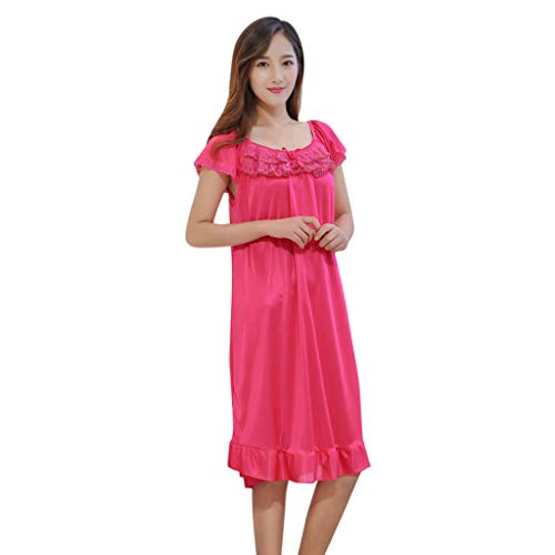 Xhilaration Pink Pajamas - AHAYAKU Women's Sexy Nightdress Lingerie Sleepwear Sexy Pajamas Hot Pink