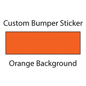Custom bumper sticker wyco products for Amazon gelbsticker