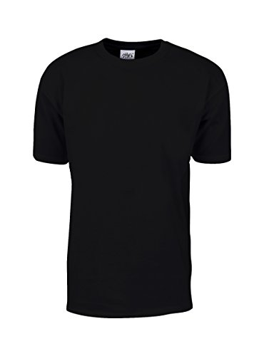 (MHS02_L Max Heavy Weight Cotton Short Sleeve T-Shirt Black L)