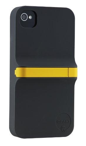 Ozaki IC864 iCoat Finger Case für Apple iPhone 4S/4 (inkl. Stylus) schwarz/gelb