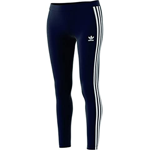 timeless design d1787 4346a adidas Originals Womens Bottoms 3 Stripes Leggings, Legend Ink, Small