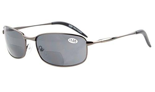 Eyekepper Bronze de Lente 1 gris sol Gafas Bifocales gris Clásico 006 75 7rxAwv7