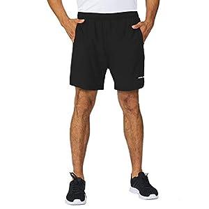 BALEAF Men's 5 Inches Running Athletic Shorts Zipper Pocket
