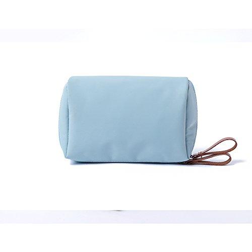 LULANEinfachen mini Make-up Bag weiblichen portable tragen - auf Kosmetiktasche kleine Reisen größe Pflegeprodukte Aufnahmepaket, 14 * 10 * 7 cm, hellblau