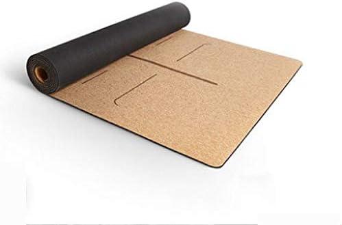 Yoga mat 反しわの厚くなるコルクのヨガのマットの滑り止めの汗吸収性の味がない183 * 65cm * 6mm workout