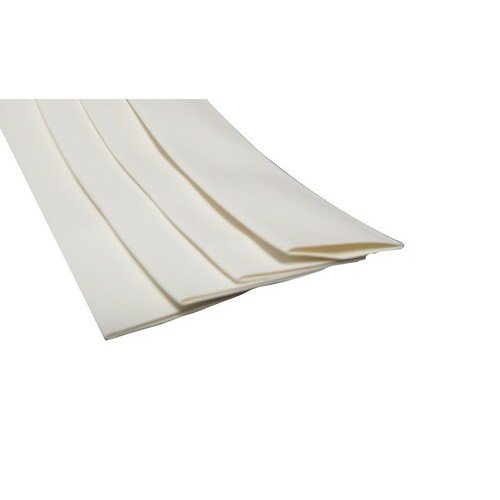 Morris 68415 Thin Wall Heat Shrink Tubing, 0.484''-0.234'' Size, 4' Length, White