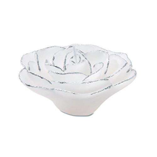 Darice White and Silver Rose Shaped Floating -