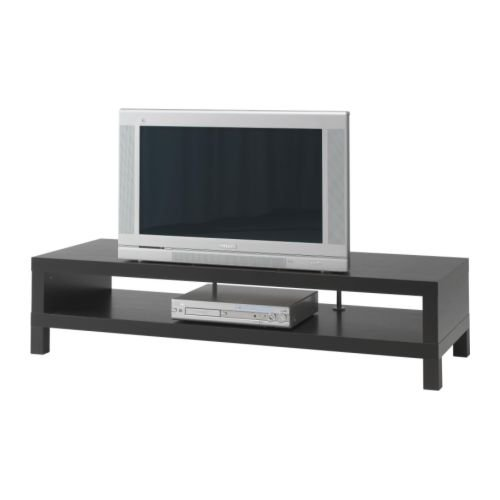 Ikea TV Bench Stand Unit, Black-Brown, Width: 58.63'', Depth: 21.63'', Height: 13.75''