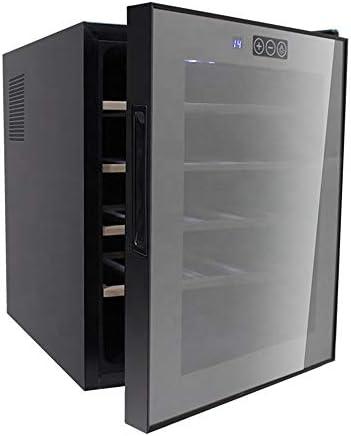 YUTGMasst Nevera Vino - Vinotecas 20 Botellas,Vinos Refrigerator con LCD, 39 Db En Funcionamiento, Puerta Vidrio, Ajuste 12 A 18 ° C, Pequenas Wine Cellar Eléctrico Temperaturas con Puerta Cristal