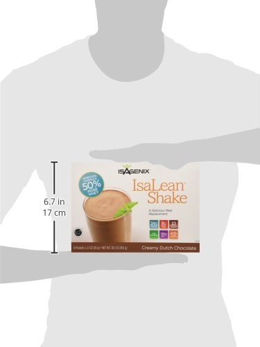 Isagenix Isalean Shake Natural Creamy Dutch Chocolate - 14 X 1 Meal Packets X 2.2 oz, 30.1 oz total by Isagenix (Image #4)