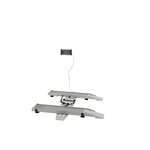 (Health O Meter Digital Wheelchair Scale 800lb x 0.2lb/363 x 0.1kg, Portable w/Adj Tracks, 2400KL, Lot of 1)