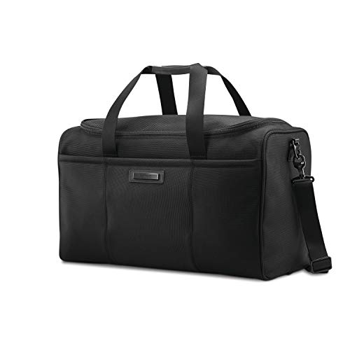 Hartmann Leather Duffel - Hartmann Ratio 2 Travel Duffel Weekend, True Black, One Size