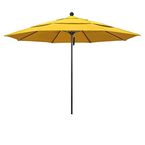 California Umbrella Round Aluminum Frame Fiberglass Rib Market Umbrella, 11