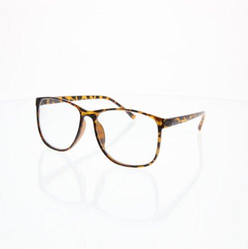 Large Wayfarer Style Clear Tortoise Sunglasses Big Nerd - Glasses Nerd Big Frame