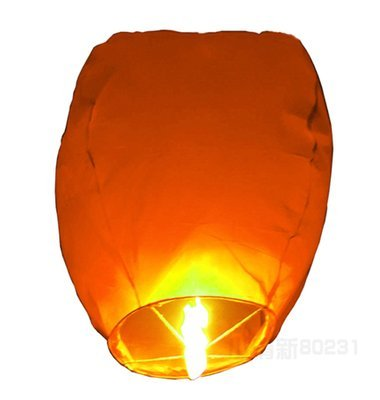 Rainbow Love 20 Pack Chinese Sky Lanterns Wish Balloon Wishing Lamp Wishing Light for Wedding Birthday Christmas Party (Orange)
