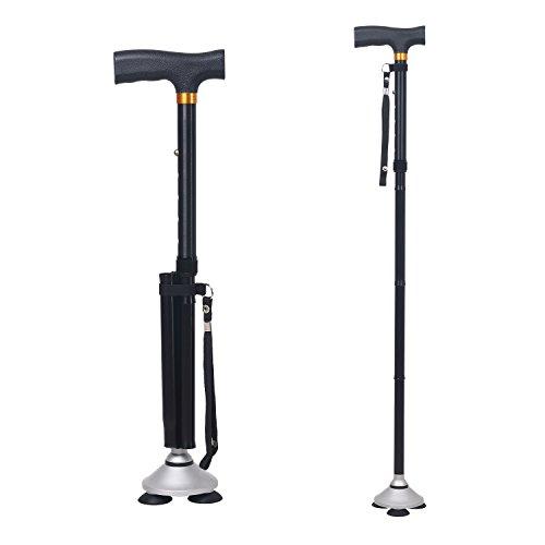 DUBULU Walking cane/Folding Cane for Men & Women with T Handle Original Black
